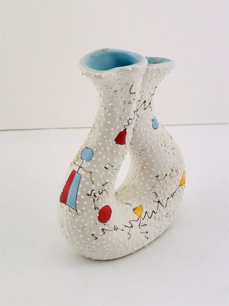 Italian Midcentury Ceramic Vase by Gualdo Dolci, 1950s In Good Condition For Sale In Byron Bay, NSW