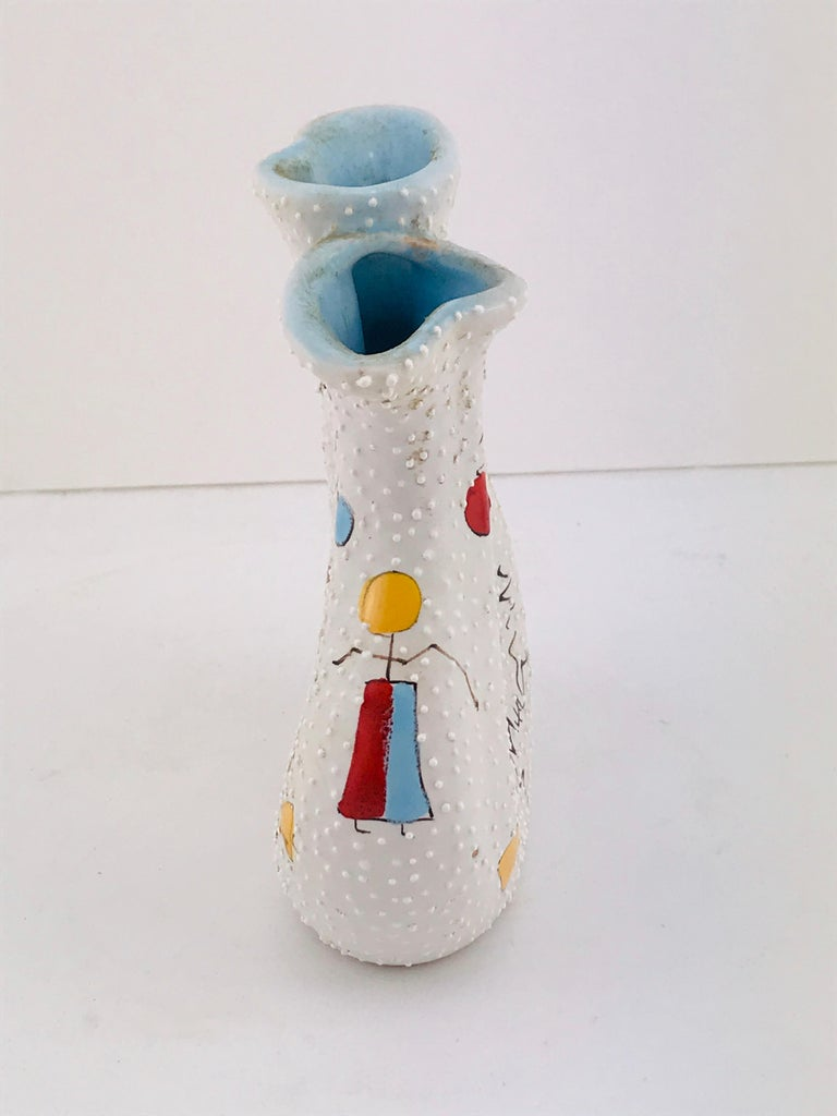 Italian Midcentury Ceramic Vase by Gualdo Dolci, 1950s For Sale 1