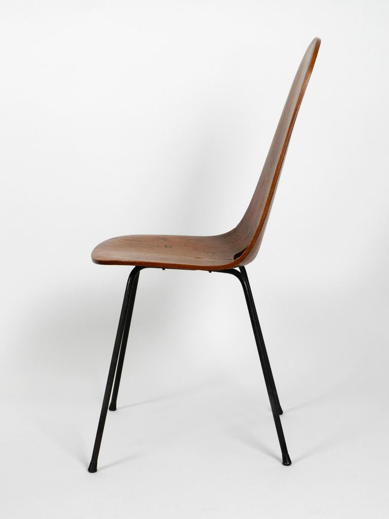 Italian Midcentury Chair by Vittorio Nobili Made of Plywood with Teak Veneer For Sale 7