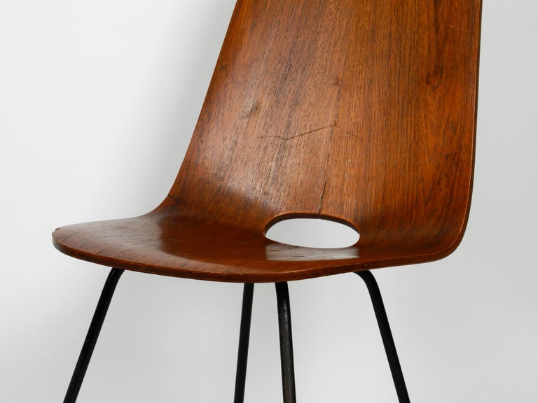 Italian Midcentury Chair by Vittorio Nobili Made of Plywood with Teak Veneer For Sale 10