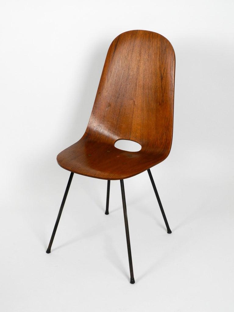 Mid-Century Modern Italian Midcentury Chair by Vittorio Nobili Made of Plywood with Teak Veneer For Sale