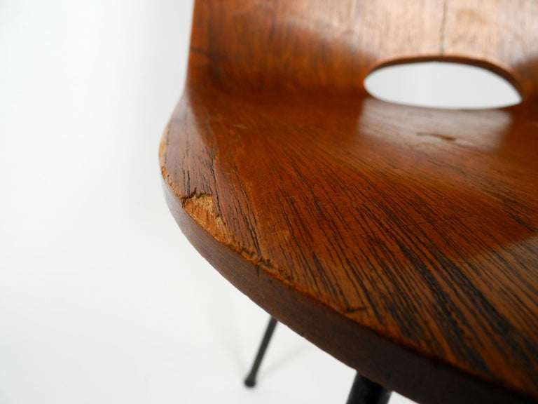 Italian Midcentury Chair by Vittorio Nobili Made of Plywood with Teak Veneer For Sale 2