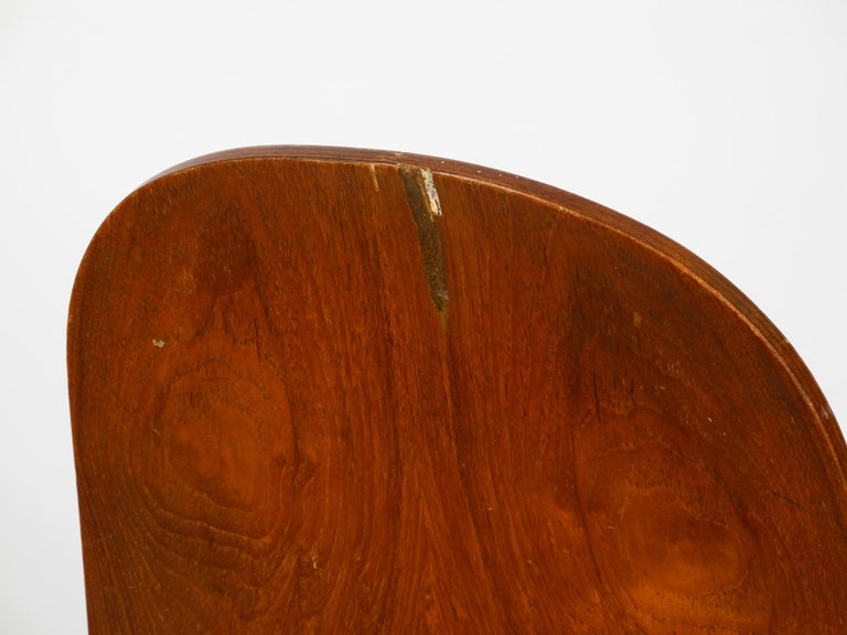 Italian Midcentury Chair by Vittorio Nobili Made of Plywood with Teak Veneer For Sale 3