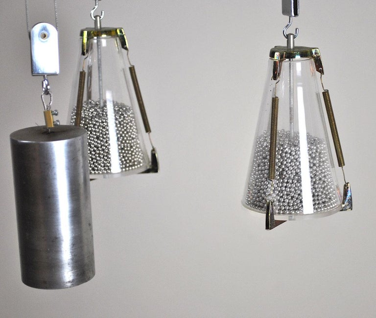 Italian Midcentury Chandelier in the Atomic Style from the 1960s 5