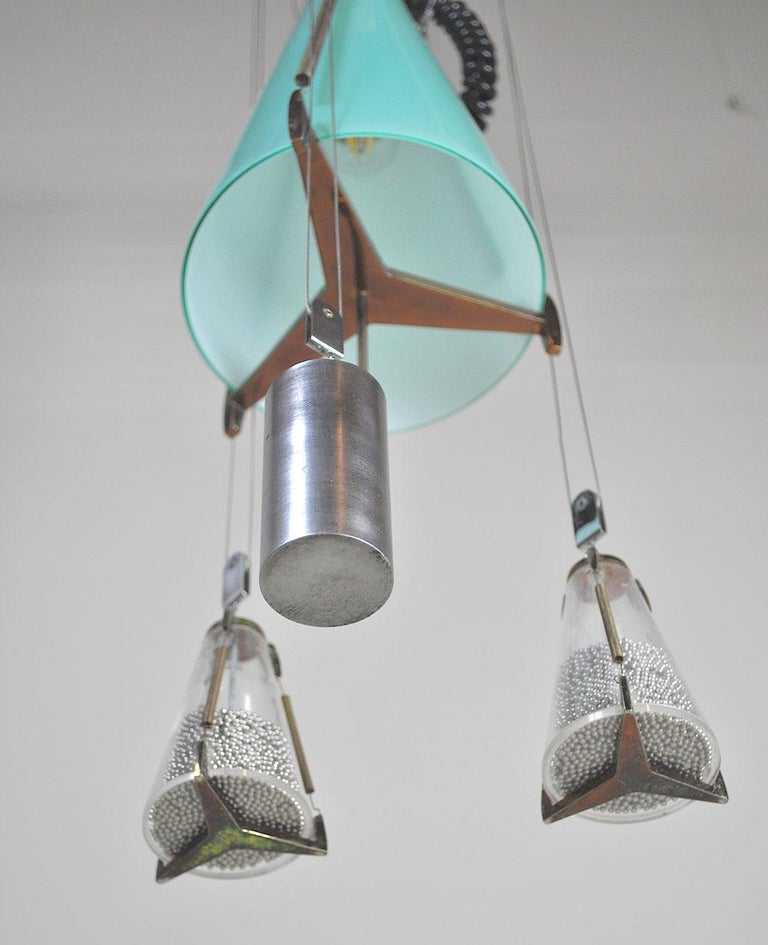 Italian Midcentury Chandelier in the Atomic Style from the 1960s 6