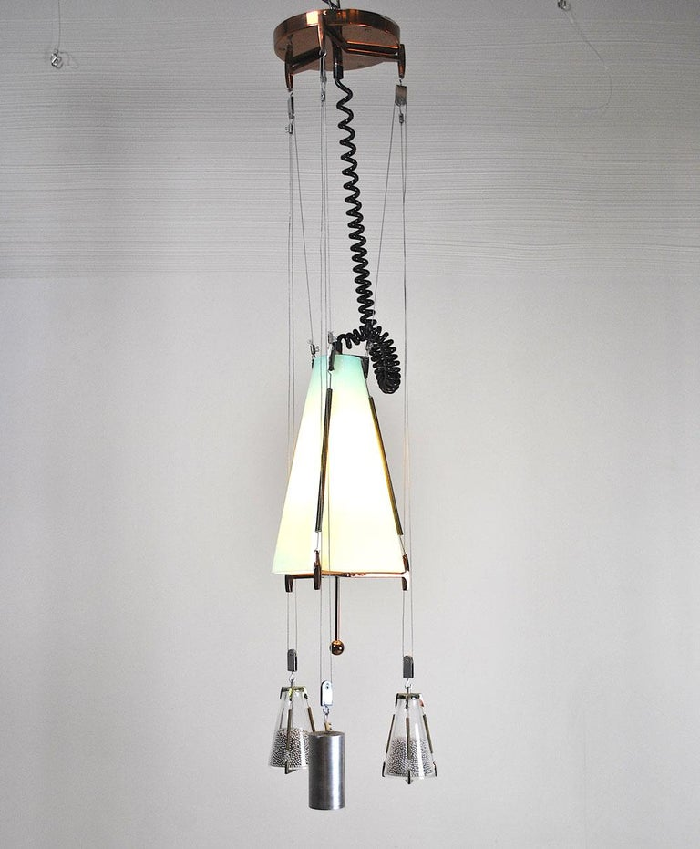 Mid-Century Modern Italian Midcentury Chandelier in the Atomic Style from the 1960s