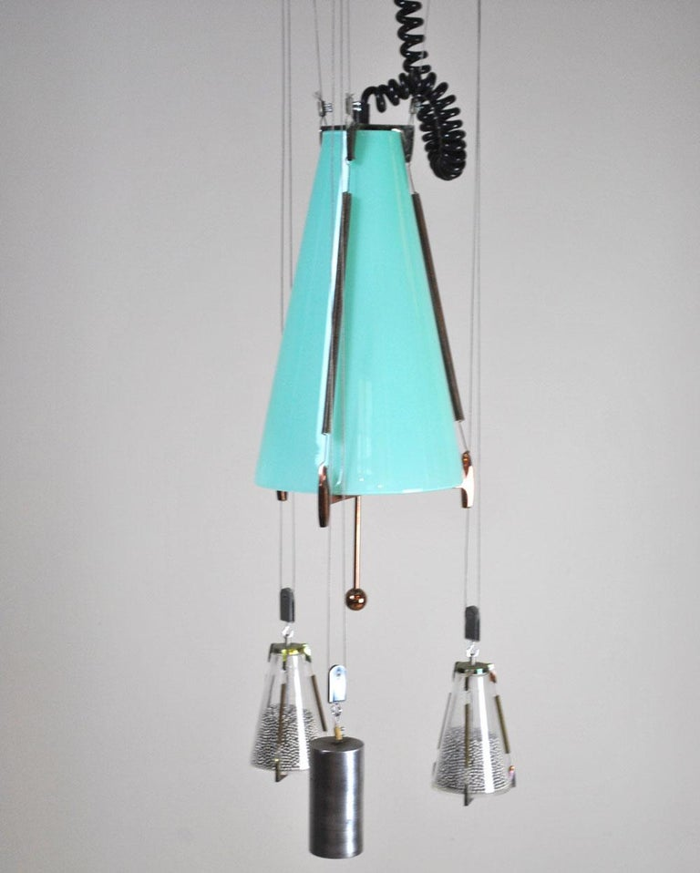 Italian Midcentury Chandelier in the Atomic Style from the 1960s 1
