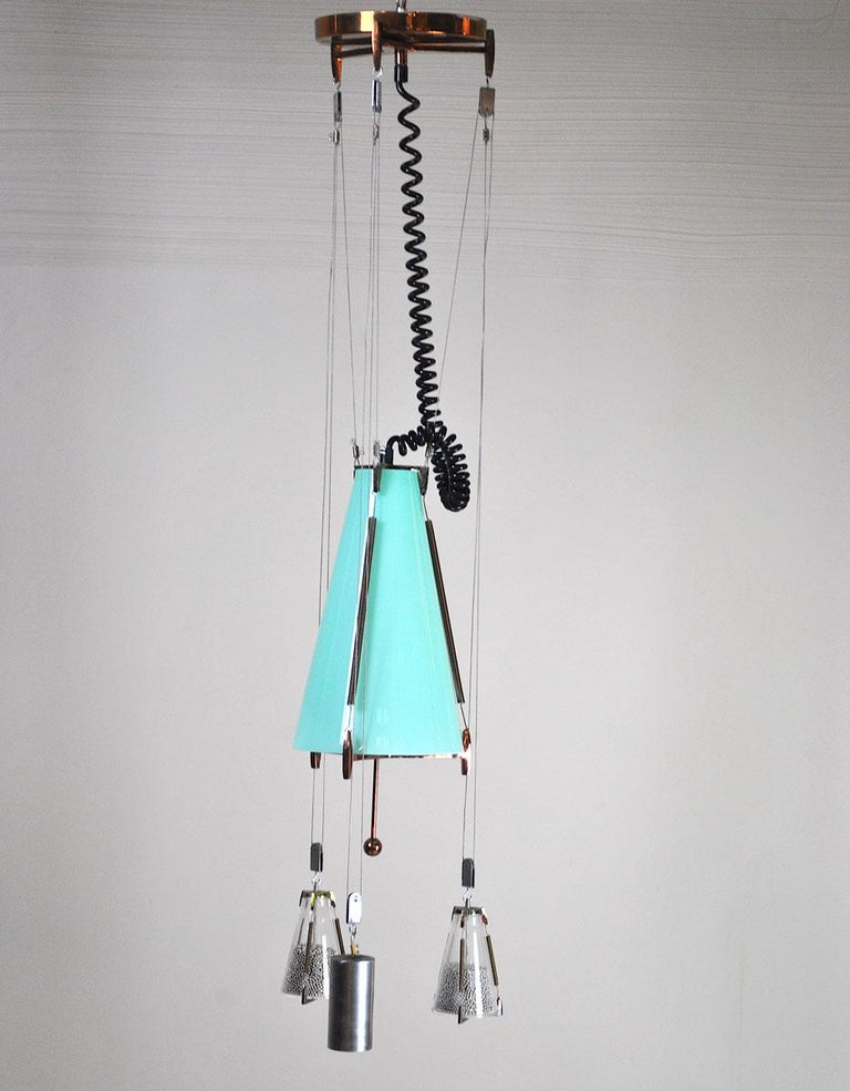 Italian Midcentury Chandelier in the Atomic Style from the 1960s 2