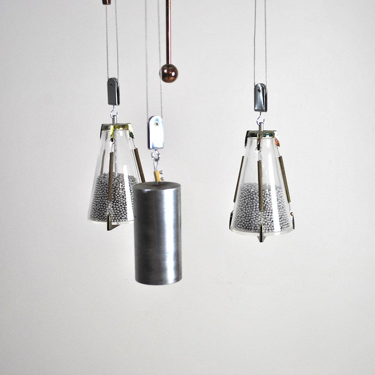 Italian Midcentury Chandelier in the Atomic Style from the 1960s 3