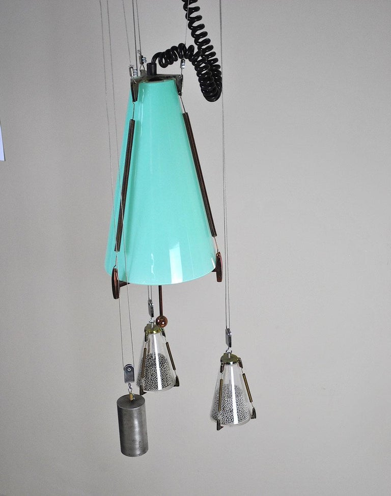 Italian Midcentury Chandelier in the Atomic Style from the 1960s 4
