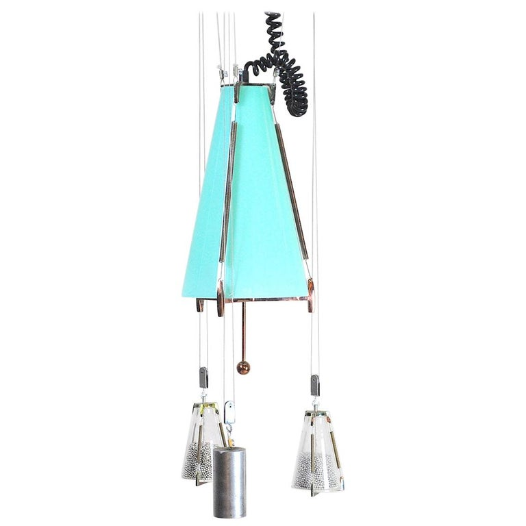 Italian Midcentury Chandelier in the Atomic Style from the 1960s