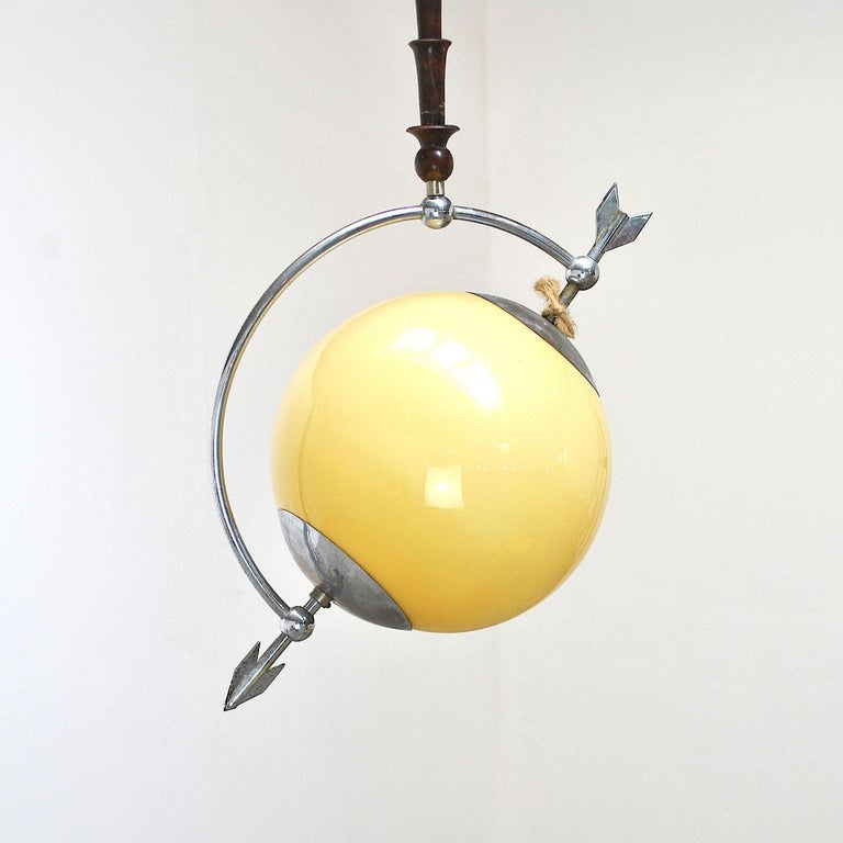 Italian Midcentury Chandelier Pietro Chiesa Style In Good Condition For Sale In bari, IT