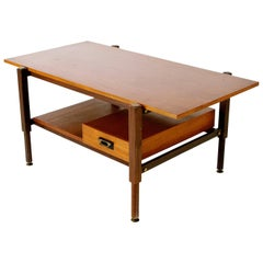 Italian Mid Century Coffee Table in Teak