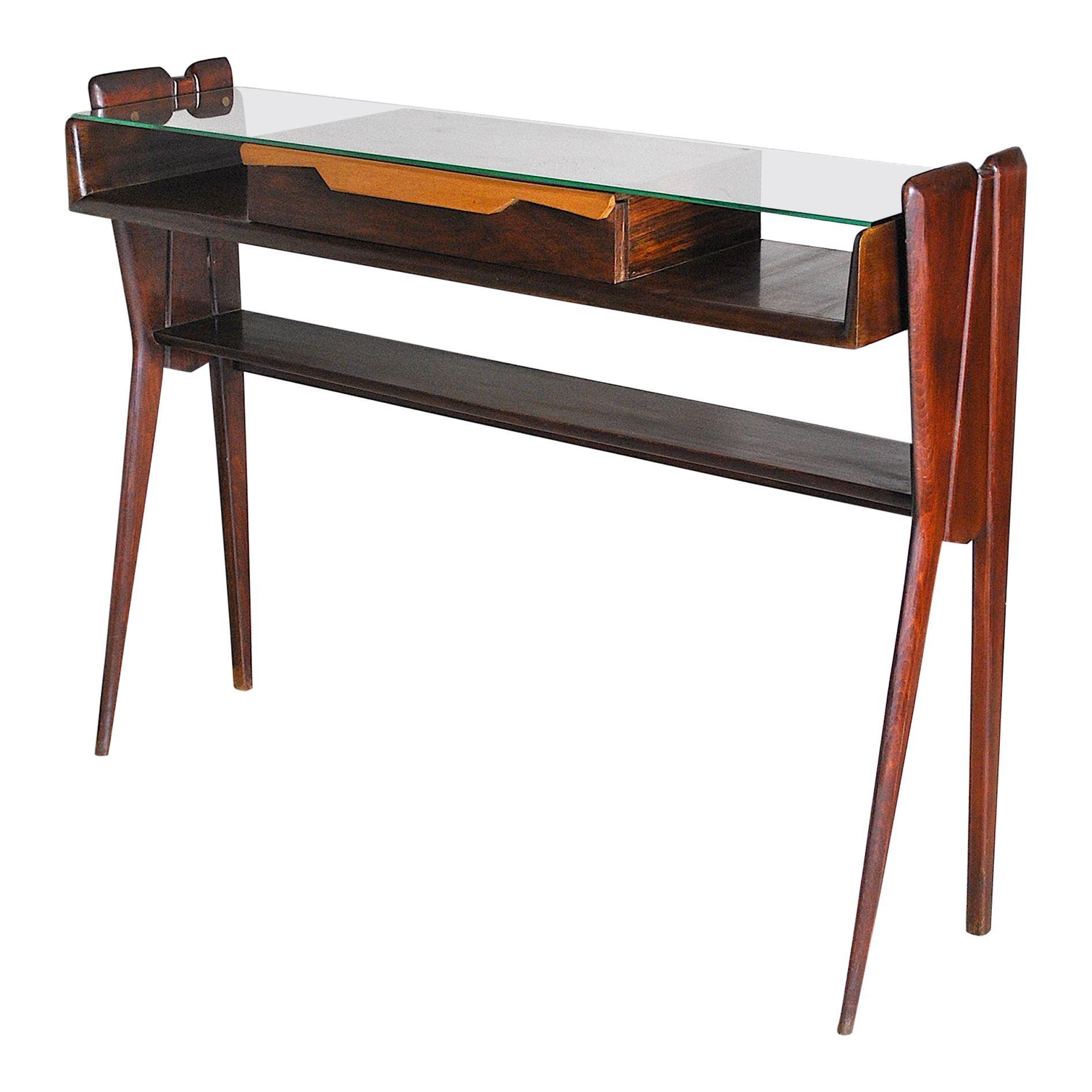 Italian Mid Century Console Table Late 50's Ico Parisi Style