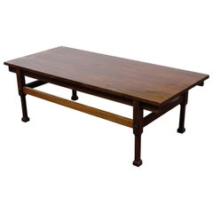 Italian Mid-Century Dark Wood Coffee Table, 1950s