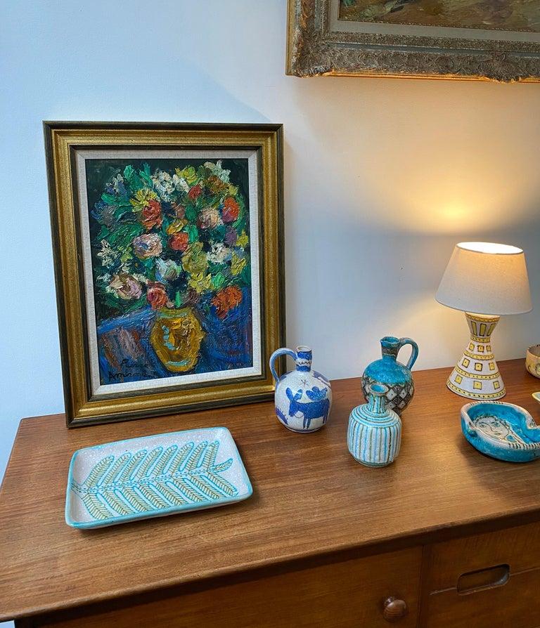 Mid-Century Modern Italian Midcentury Decorative Ceramic Tray by Guido Gambone 'circa 1950s' For Sale
