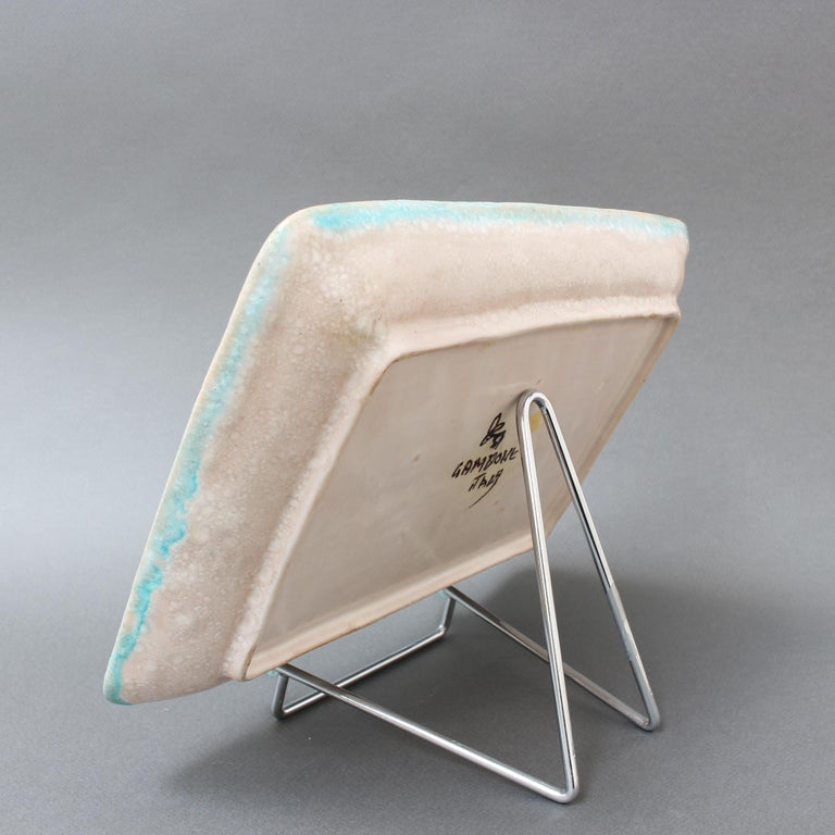 Mid-20th Century Italian Midcentury Decorative Ceramic Tray by Guido Gambone 'circa 1950s' For Sale