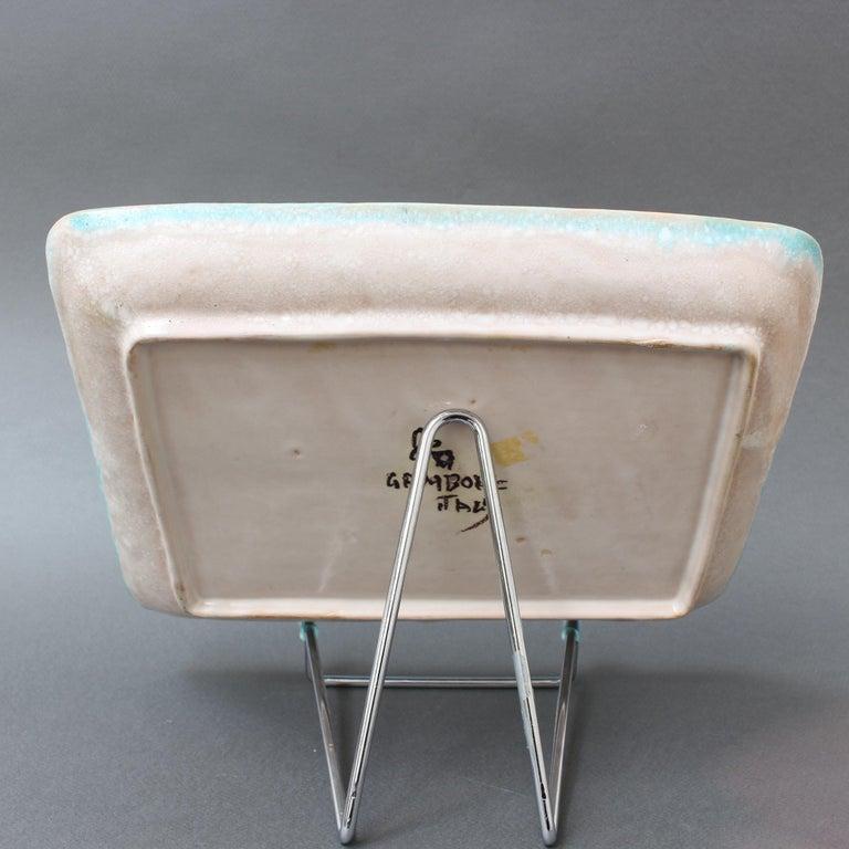 Italian Midcentury Decorative Ceramic Tray by Guido Gambone 'circa 1950s' For Sale 1