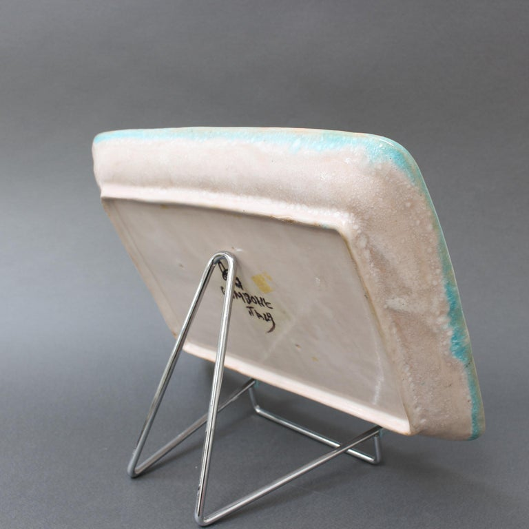Italian Midcentury Decorative Ceramic Tray by Guido Gambone 'circa 1950s' For Sale 2