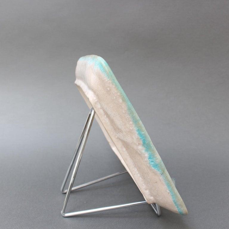 Italian Midcentury Decorative Ceramic Tray by Guido Gambone 'circa 1950s' For Sale 3