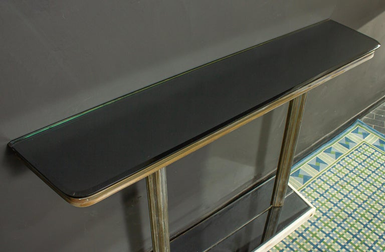 Italian Midcentury Design Console Table with Mirror and Sconces, 1950 For Sale 3