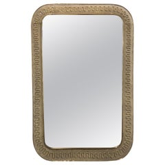 Italian Midcentury Design Wall Mirror by Cesare Lacca made from Brass, 1950s