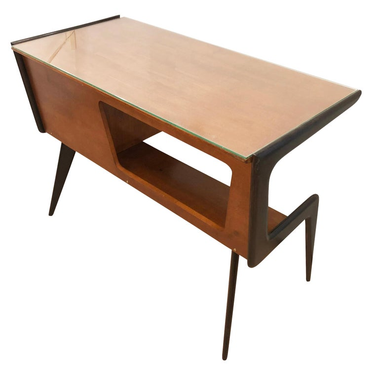 Mid-Century Modern Italian Midcentury Desk in the Manner of Silvio Cavatorta For Sale