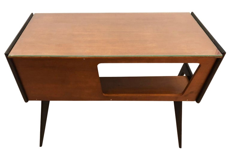 Mid-20th Century Italian Midcentury Desk in the Manner of Silvio Cavatorta For Sale