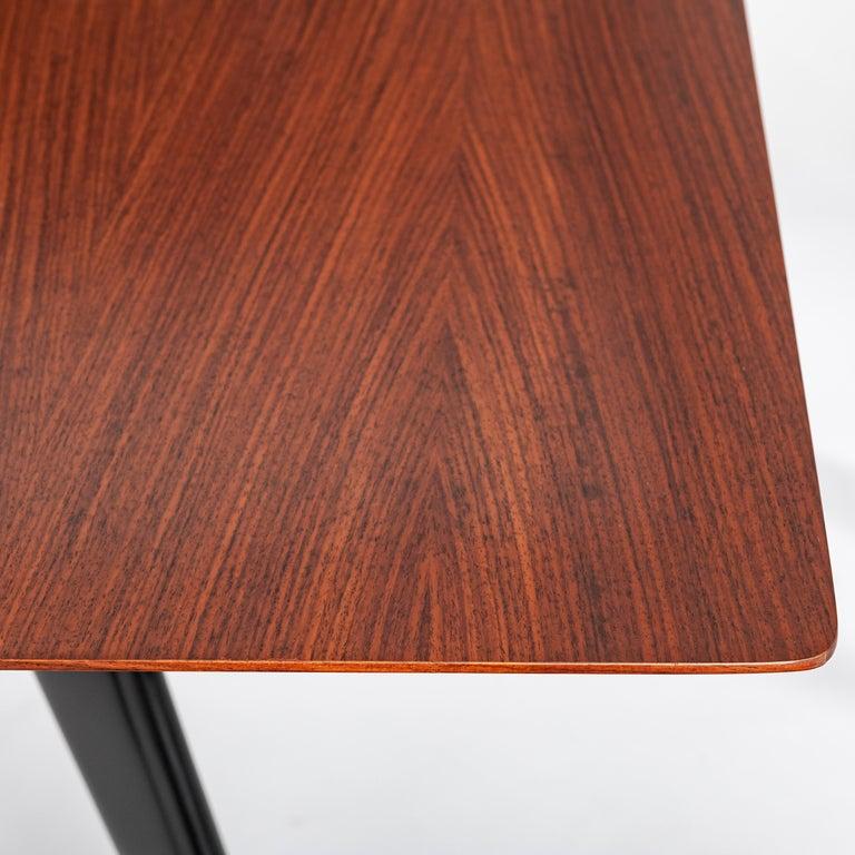 Italian Midcentury Dining Table / Desk Rosewood Wood Veneer by Ico Parisi 1950s For Sale 4