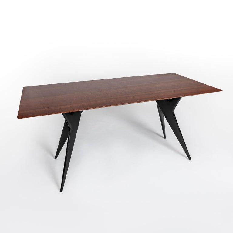 Mid-Century Modern Italian Midcentury Dining Table / Desk Rosewood Wood Veneer by Ico Parisi 1950s For Sale