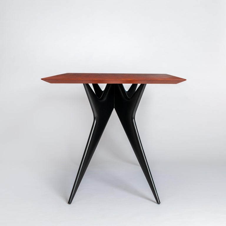 Mid-20th Century Italian Midcentury Dining Table / Desk Rosewood Wood Veneer by Ico Parisi 1950s For Sale