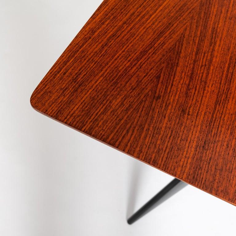 Italian Midcentury Dining Table / Desk Rosewood Wood Veneer by Ico Parisi 1950s For Sale 1