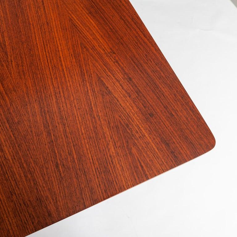 Italian Midcentury Dining Table / Desk Rosewood Wood Veneer by Ico Parisi 1950s For Sale 2