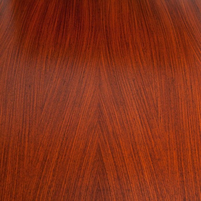 Italian Midcentury Dining Table / Desk Rosewood Wood Veneer by Ico Parisi 1950s For Sale 3