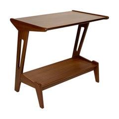Italian Mid Century Double Shelf Side Table