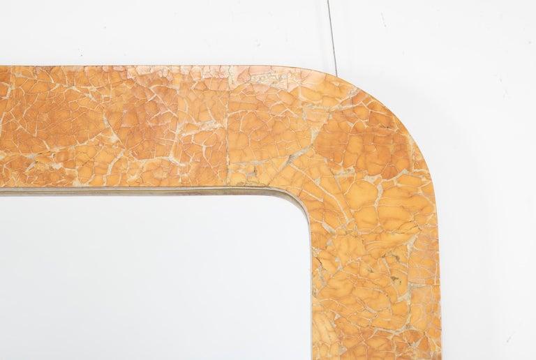 20th Century Italian Midcentury Faux Siena Marble Rectangular Mirror For Sale