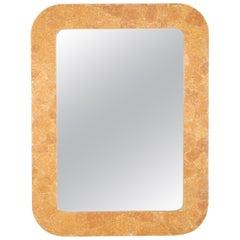 Italian Midcentury Faux Siena Marble Rectangular Mirror