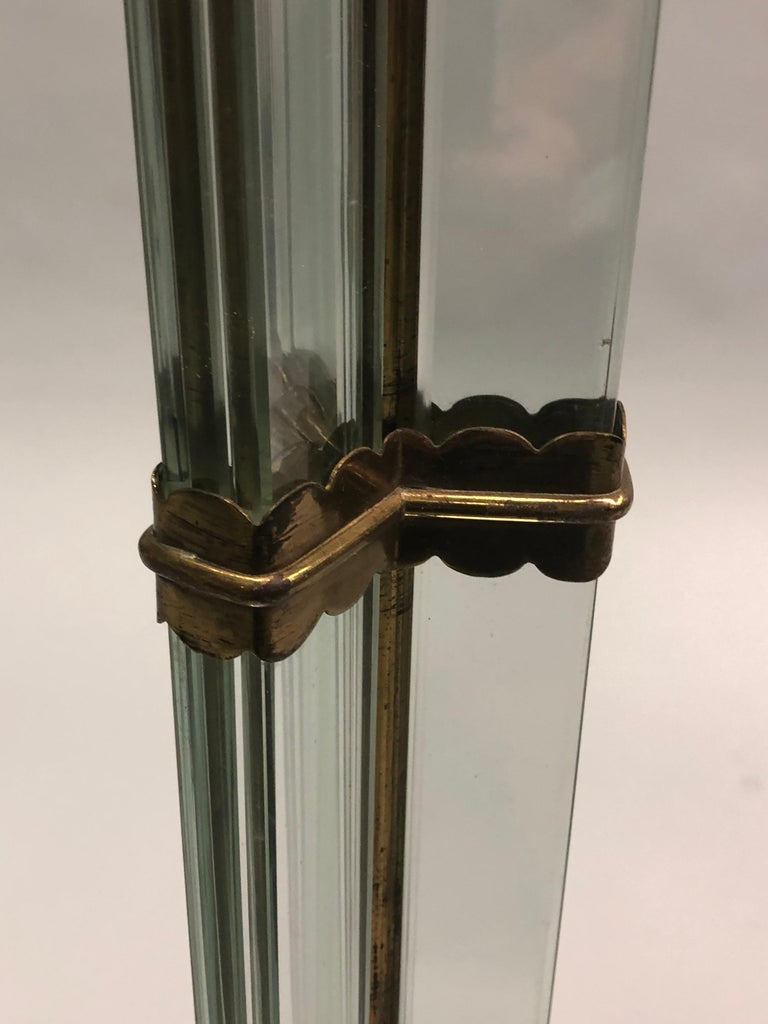 Italian Midcentury Green Glass Floor Lamp by P. Chiesa for Fontana Arte, 1930 For Sale 8