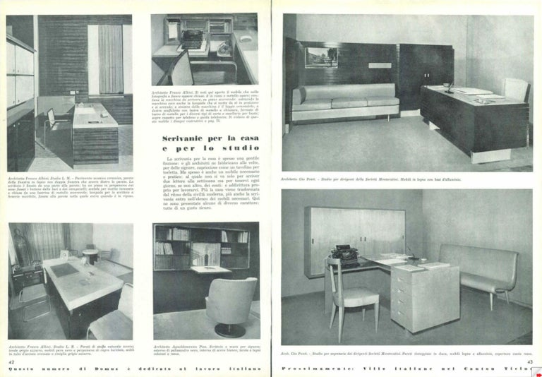 Italian Midcentury Grissinata Desk Attributed to Gio Ponti in Walnut, 1950s For Sale 7