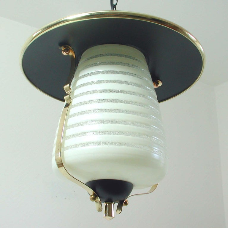 Mid-20th Century Italian Midcentury Lantern Pendant, Ceiling Light, 1950s For Sale