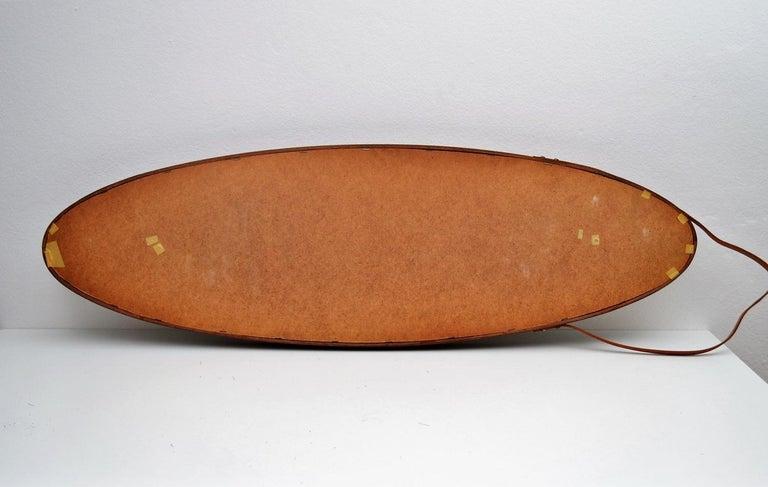 Italian Midcentury Mahogany Wall Mirror, 1950s For Sale 12