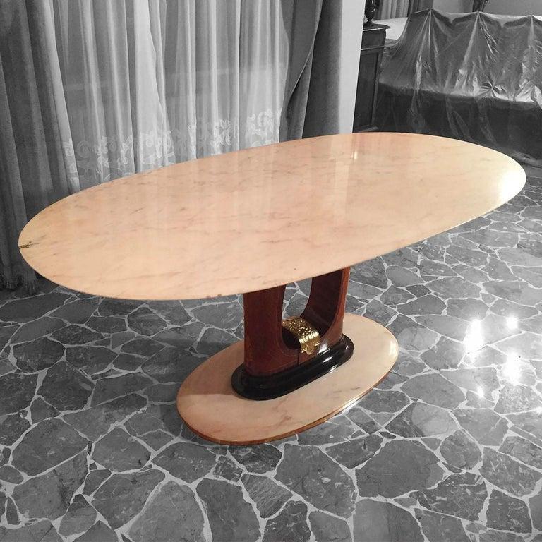 Italian Midcentury Marble Dining Table Guglielmo Ulrich Style, 1950s 5