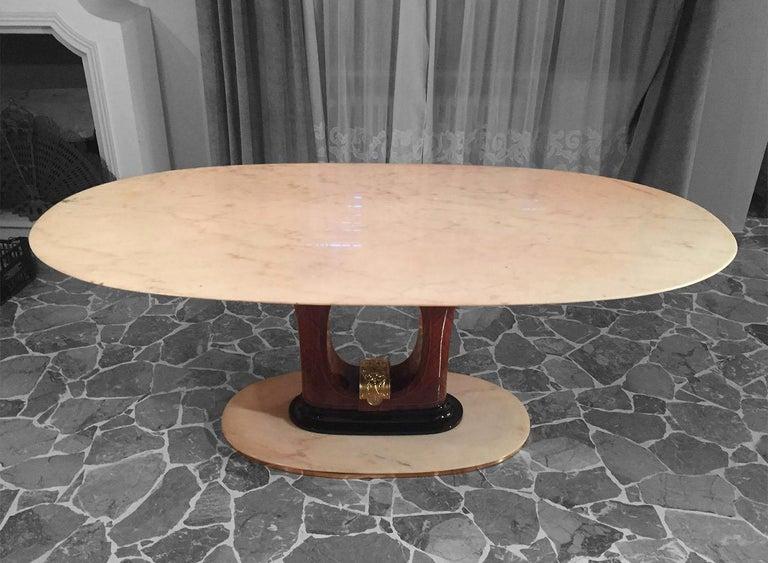 Italian Midcentury Marble Dining Table Guglielmo Ulrich Style, 1950s 6