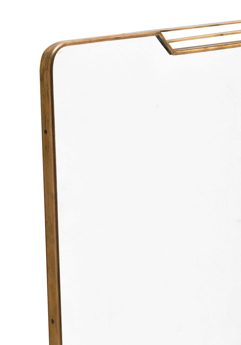 Italian Midcentury Mirror in the Style of Paolo Buffa For Sale 1