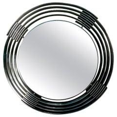 Italian Mid-Century Modern Aluminum Mirror by Paolo Rizzato
