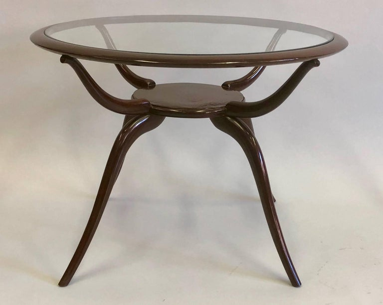 20th Century Italian Mid-Century Modern Arachnid Coffee / Side Table, Guglielmo Ulrich, 1940 For Sale
