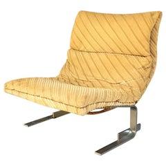Italian Mid-Century Modern Armchair by Giovanni Offredi for Saporiti, 1970s