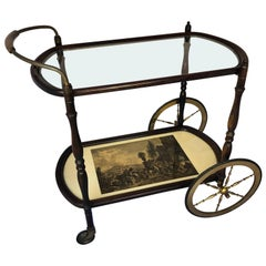 Italian Mid-Century Modern Bar Cart and Trolley, in the style of Cesare Lacca