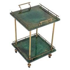 Italian Mid-Century Modern Bar Cart or Side Table by Aldo Tura Milan, 1960s