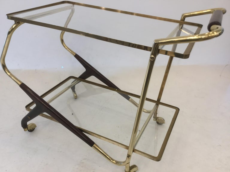 Italian Mid-Century Modern Bar Cart or Trolley, 1950s For Sale 1